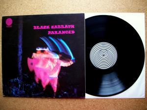 Black Sabbath - Paranoid, 1970, first issue, Vertigo swirl label